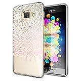 NALIA Handyhülle für Samsung Galaxy A3 2016, Slim Silikon Motiv Case Hülle Cover Crystal Schutzhülle Dünn Durchsichtig Etui Handy-Tasche Backcover Transparent Phone Bumper, Designs:Mandala Pink