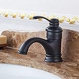 Robinet rétro en laiton pour lavabo de salle de bain ou cuisine - Noir mat