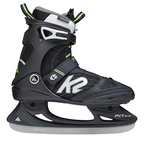 K2 Hombre Patines de Hielo FIT Ice Pro Negro-Verde Talla:7,5