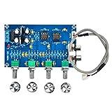 iHaospace NE5532 Amplifier Tone Preamp Board 2.0 Dual Channel Audio Verstärkerplatine Treble Bass Adjustment