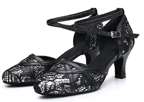 TDA - Sandali con Zeppa donna 6cm Heel Black