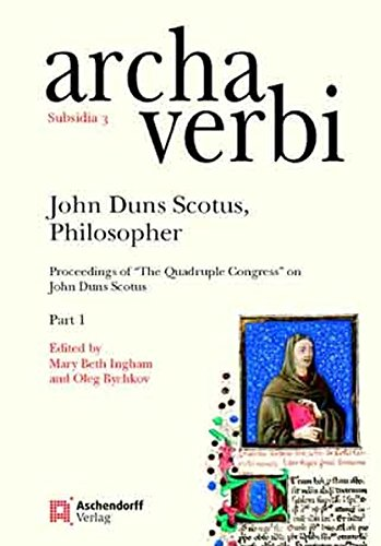 John Duns Scotus, Philosopher: Proceedings of