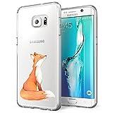 AIsoar Samsung Galaxy S7 Hülle, Samsung Galaxy S7 Handyhülle Ultra Dünn Crystal Stylisch Kleiner Prinz Clear TPU Silikon Anti-Fingerabdruck Kratzfest Schutzhülle für Samsung S7 (Gelber Fuchs)