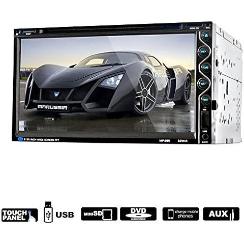 Lacaca HD da 7in dash 2din touch screen auto Stereo CD Lettore DVD Bluetooth USB SD AM FM TV ricevitore radio controllo del volante Funzione Sostegno AV Input/Output e telecamera posteriore