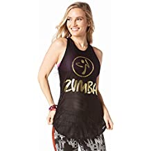 Zumba Fitness Mesh of the party Tight Reservorio Mujer Tops, todo el año, mujer, color Bold Black, tamaño small