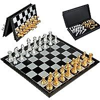 Schachspiel-Magnetisch-Faltbar-Schachbrett-Reise-Speil-fr-ab-6-Kinder Schachspiel Magnetisch Faltbar Schachbrett Reise Speil für ab 6 Kinder,25x25cm - Start -
