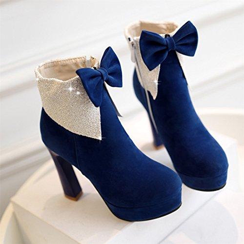 YE , Bottes classiques femme Bleu