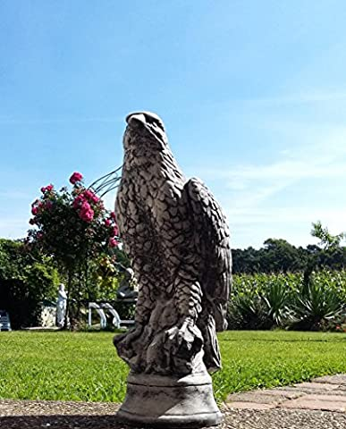 7.5KG Schwäre Stone Cast Stone Bird Bird Of Prey Hawk Eagle Bird Of Prey Garden Ornament Frost Free for Christmas Gift