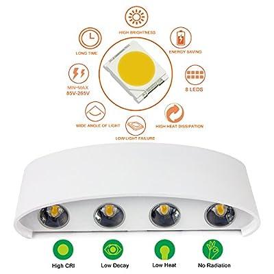 Wandleuchten Moderne IP65 Wasserdicht 8W LED Wandleuchte Innen ...