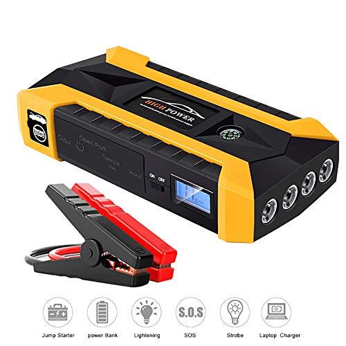 Preisvergleich Produktbild Portable Auto Starthilfe Notfall Batterie Booster Pack 600A 20000mAh (Bis zu 5.0L Gas,  3.0L Dieselmotor) 12V mit integriertem Smart Protection,  LCD Bildschirm, Telefon Power Bank mit LED Taschenlampe