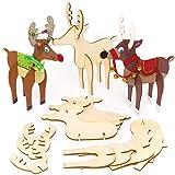 Baker Ross Rennes en Bois (Paquet de 6) - Loisirs créatifs de Noël pour Enfants...