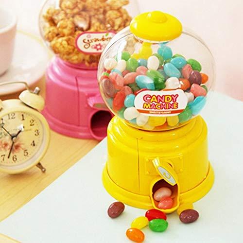 JohnJohnsen Mini máquina de golosinas de plástico Bubble Gumball Dispensador Moneda Banco Niños Juguete para Gumballs Cacahuetes Pequeño Caramelo y Snacks (Rojo)