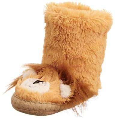 hatley  Kids Slouch SL3SAAN001, chaussons mixte enfant - Jaune - Lion, 7 Child UK