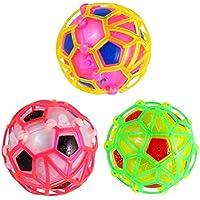 UKCOCO Baile eléctrico Canto Bola de Rebote Colorido Juguete de Socer para niños Colorido Juguete Intermitente eléctrico (Color Aleatorio)