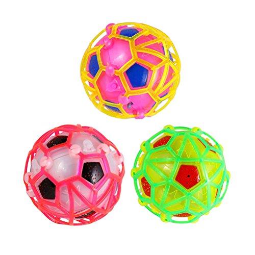 UEETEK Elektrische bunte Socer Fußball-Spielzeug für Kinder tanzen singen Bouncing Ball