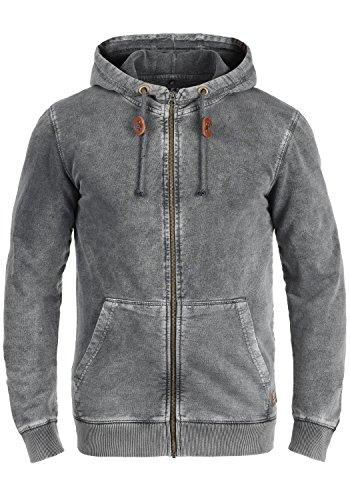 Blend Itaschi Herren Sweatjacke Kapuzenjacke Hoodie Mit Kapuze Und Reißverschluss Aus 100% Baumwolle, Größe:M, Farbe:Ebony Grey (75111) - Blend Hoodie