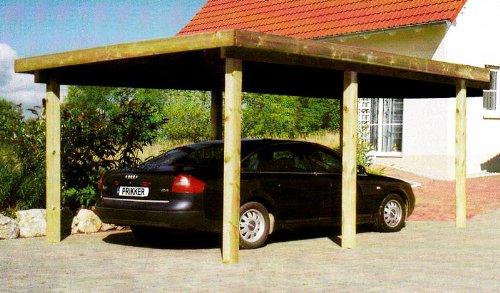 Carport Flachdachcarport SILVERSTONE VIII 300x500 cm Autogarage Bausatz Flachdachcarport