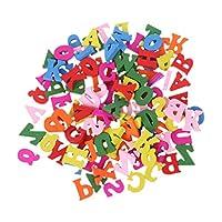 jigang 100pcs Wooden Letter Alphabet Words Blocks Carft DIY Decoration Button Kid Education Toy