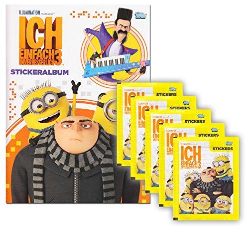 Topps Lot de 3 Pochettes de Collection Minions Moi, Moche et méchant 3