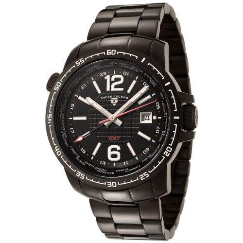 Swiss Legend SL-90013-BB-11-SA - Reloj analógico de cuarzo para hombre, correa de acero inoxidable color plateado