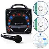 Singing Machine SML-283 Portable CD-G Karaoke Player and 3 CDGs Party Pack, Black