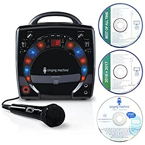 Singing Machine SML-283 Portable CD-G Karaoke Player and 3 CDGs Party Pack - Black