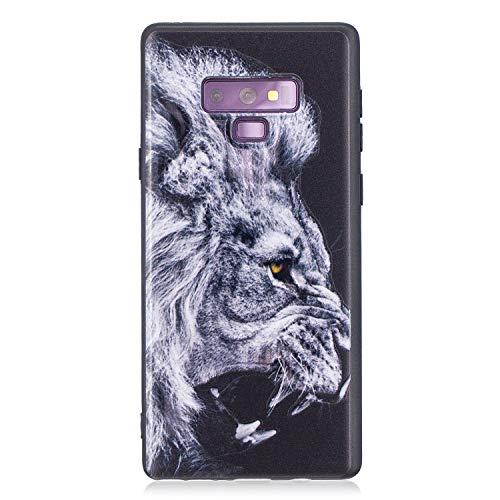 Flymaff Schutzhülle für Samsung Galaxy Note 9, mit Glas-Displayschutzfolie, Bunte Malerei, ultradünn, Rutschfest, Weiches TPU, für Samsung Galaxy Note 9