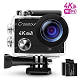 Action Cam 4K Camera Wi-Fi Unterwasser Kamera Ultra HD Crosstour 2 'LCD Wasserdichte 30M 170...