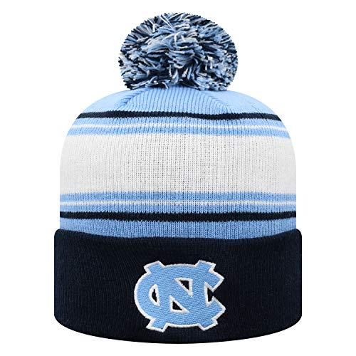 Top of the World NCAA North Carolina Tar Heels Men's Elite Fan Shop Winter Knit Ambient Warm Hat, Light Blue
