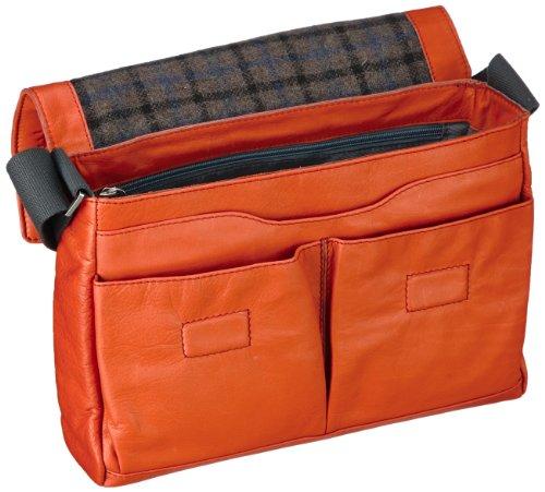 Bugatti Bags  Borsa Messenger, 7 L, Nero arancione