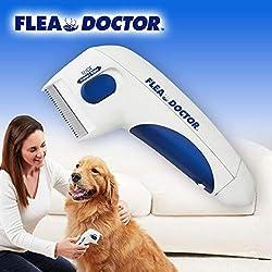 JJYXNY Peine para Eliminar pulgas de Mascotas, Peine eléctrico para Eliminar pulgas, Cepillo eléctrico para pulgas, Cepillo para Polvo de Cabeza de Peine, Herramienta de Limpieza para Perros