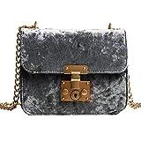 Felicove Damen Schultertasche, Retro Gold Samt Tasche Schultertasche Messenger Bags Tote Handtasche