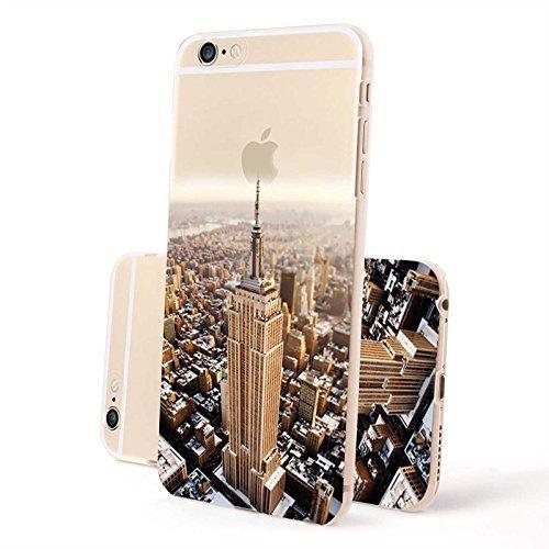 FINOO ®   Iphone 6 / 6S Plus Hardcase Handy-Hülle   Transparente Hart-Back Cover Schale mit Motiv Muster   Tasche Case mit Ultra Slim Rundum-schutz   stoßfestes dünnes Bumper Etui   Empire State Build Empire State Building 2
