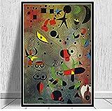 yangwuju Doodle Stellato Decorazioni per pareti Art Canvas Poster Pittura 1 Pannello Casa Soggiorno Stampe HD Immagini Regalo Regalo per Gli amanti-40x60cm