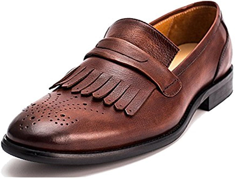 Zapatos De Cuero para Hombres, Broch, Transpirable, Retro, Borla, Ponible, Antideslizante, Casual, Británico -