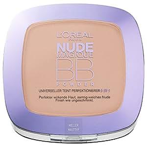L'Oréal Paris Make-Up BB Powder, hell / Pflegendes 5 in 1 Beauty Balm Puder mit Nude-Effekt für jeden Hauttyp / 1 x 9 ml