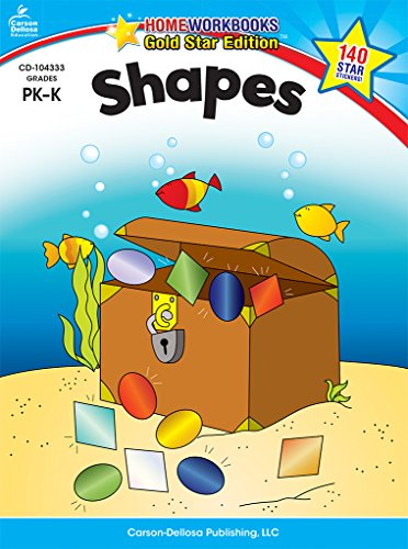 Shapes, Grades Pk - K: Gold Star Edition (Home Workbooks: Gold Star Edition)