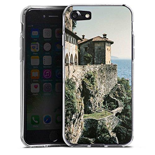 Apple iPhone X Silikon Hülle Case Schutzhülle Küstenlandschaft Festung Meer Silikon Case transparent