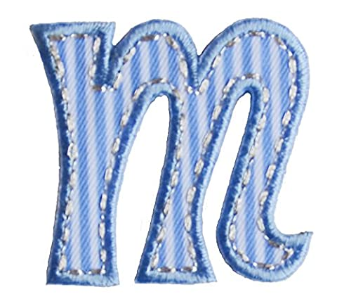 TrickyBoo iron-on fabric smallcase letter m102, 4-5cm personalizes applique kids name mend birthday Martial Arts Geckos, Newts Salamanders Tennis Zebras Travel Baseball letters fabric decor kid baby name gift toddler blue green red pink white stripe big small cm inch alphabet ABC craft sew on iron personal personalized a b c d e f g h i j k l m n o p q r s t u v w x y z 2016 word wool woodland wonder womens women wolf with wild wholesale western volkswagen vests vest velcro varsity vampire us