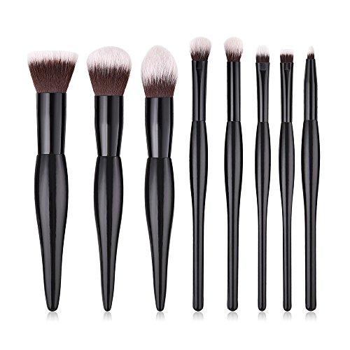 Watopi 8PCS Fondation En Bois Cosmétique Sourcils Fard À Paupières Brosse Maquillage Brush Sets Outils