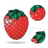 Strandtuch, MingKun Weich Strand Rund Yoga Matte Sunscreen Schal Handtuch Umschlagtuch Tischdecke Picknickdecke Tapestry für Outdoor Sandstrand Und Innen Dekoration - Strawberry Erdbeeren