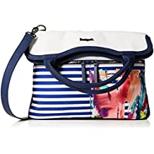 Desigual Bols_rainbow Splash Cordoba Women's Cross-Body Bag White (Blanco) 5.5x26x36 cm (B x H x T)