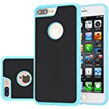Para iPhone 7 Plus Funda CaseforYou Anti-Gravity Adsorption Case Magical Sticky Snap-On Back Cover Shell Protector, Cielo azul