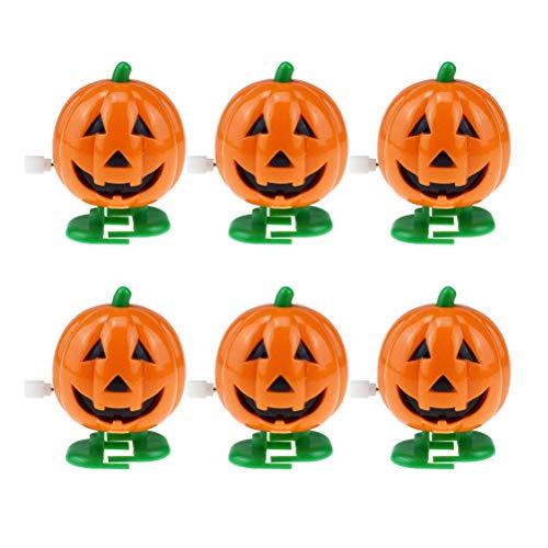 Amosfun 6 stücke Wind-up Spielzeug Uhrwerk Wecken Lächeln Gesicht Kürbisse Urlaub Halloween Parteibevorzugung Halloween Spielzeug Kinder Party Dekoration