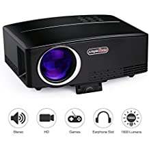 Proyectores, TOQIBO Proyector Portátil 1800 lúmenes LED Mini Proyector Home Cinema Portátil Multimedia Cine en Casa con USB SD HDMI VGA para Video Game Movie de Cine