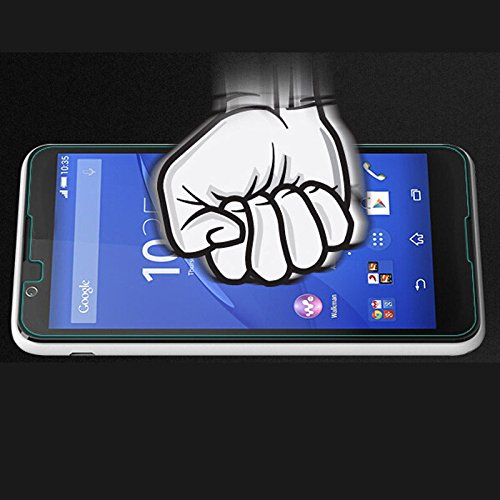 Snoogg Micromax Canvas Juice 2 Aq5001 Full Body Tempered Glass Screen Protect...