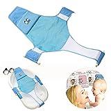 Itian Apoyo del Baño del Bebé de Seguridad del Asiento Ajustable del Baño de Asiento de Baño para Bebé (Azul)