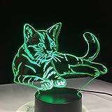 Illusion d'optique lampe hologramme 7 changement de couleur veilleuse lampe 3D lampe...