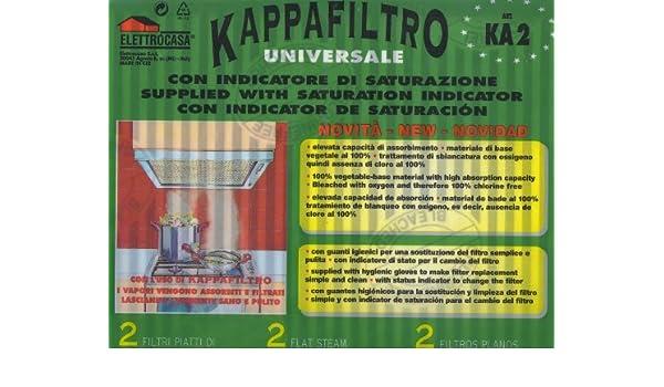 KA2 Elettrocasa Filtro Universale Cappa Elettrocasa indicatore di Saturazione
