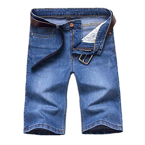 Standard-höhe Cherry (GIRLXV Herren Sommer Shorts Herren Jeanszip Slim Biker Jeans Hosen Beach Sports Casual Herren Classic Straight Fit Stylish Standard Cut (Ohne Gürtel))